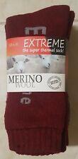 3 PAIRS LADIES SZ 7-11 RED MERINO WOOL THERMAL CUSHION FOOT WORK SOCKS