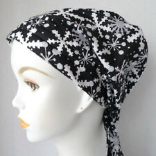 Chemo Cancer Hat Alopecia HairLoss Cotton Scarf Turban Head Wrap Snowflakes