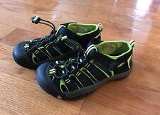Keen Newport H2 Waterproof Water Sandals Black Neon Green Size Youth 3