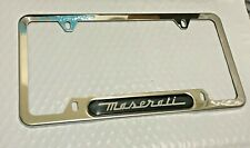 For Chrome Maserati License Frame Plate Cover Stainless Steel USA