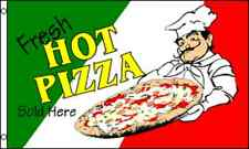 """FRESH HOT PIZZA"" flag 3x5 ft poly food"