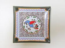 Vintage Houze Art Penn Dutch Design Small Square Glass Tray / Ashtray