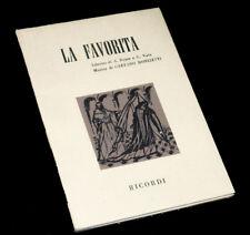 la Favorita livret seul Royer Vaëz opéra Donizetti 1964