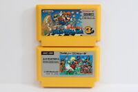 Lot 2 Super Mario Bros 1 3 Brothers Nintendo FC Famicom NES Japan Import F2494 C
