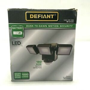 Defiant LED Dusk-to-Dawn Motion Security Light 1000 Lumens, Bronze Finish
