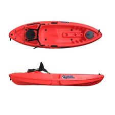 SIT ON TOP FISHING KAYAK CANOE GALAXY GRAYLING - RED