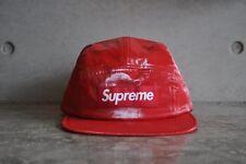 Supreme Coated Linen Box Logo Camp Cap - Red
