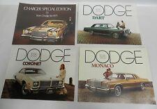 "Lot ""4"" 1975 Dodge Charger Monaco Coronet Dart Sales Brochure Literature (A4)"