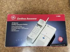 Vintage GE Cordless Phone With Answering Machine 10 Channel Cordless Answerer