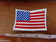 "Sew on patch American Flag 2"" x 2 3/4"" racing suits jackets pants go kart"