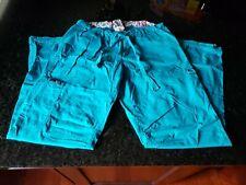 Koi By Kathy Peterson Women's Scrub Cargo Pants  00006000 Medium Teal. Pretty an Comfy!