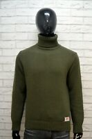 Maglione Uomo LEVI'S Cardigan Pullover Lana Collo Alto Taglia M Sweater Man Top