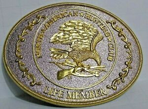 North American Hunting Club, Lifetime Member Belt Buckle Excellent Condition