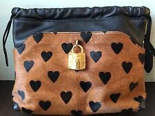 Burberry Prorsum Little Crush Calf Hair Pony Hair Heart Crossbody Bag/Clutch