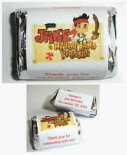 120 JAKE AND THE NEVERLAND PIRATES BIRTHDAY PARTY CANDY WRAPPERS LABELS FAVORS