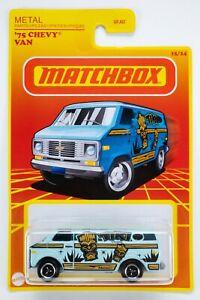 2021 Matchbox Target Retro #15 '75 Chevy® Van LIGHT BLUE / TIKI CRUISER / MOC