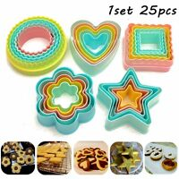 25Pcs Fondant Cake Cookie Sugarcraft Cutter Decorating Mold Set Kitchen