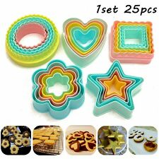 25Pcs Fondant Cake Cookie Sugarcraft Cutter Decorating Mold Set Kitchen Supplies
