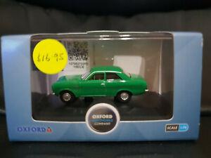 Oxford Diecast 1/76 scale 76FE001 Ford Escort Mk1 Modana Green BNIB