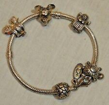 Pandora Sterling Silver Bracelet with Pandora & Disney Bead Charms