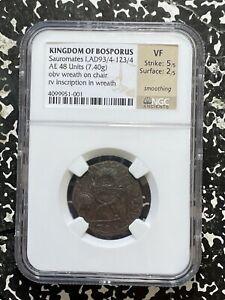 (93/4-123/4 AD) Kingdom of Bosporus Sauromates I AE 48 Units NGC VF Lot#G646