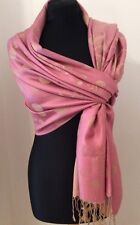 Dusky Pink And Gold Soft Cashmere Wrap