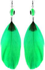 F1537 fashion Feather cute earrings flat eye jewelry Christmas gift