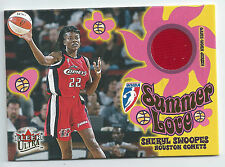 Sheryl Swoopes 2002 Ultra WNBA Summer Love Insert Memorabilia Jersey Card