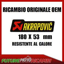 AKRAPOVIC ADESIVO OEM RESISTENTE AL CALORE 180x53 HEAT RESISTANT STICKERS
