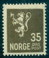 Norway #123 35ore Lion, og, Lh, hi value in set Scott $75.00