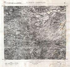 San Marco Argentano,Torano Castello,Roggiano Gravina: Grande carta militare.1877