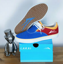 Lakai Skate shoes Riley Hawk 2 blue red Yellow Baker Skateboards Suede 11,5/46