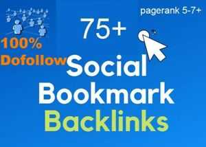 75 social bookmarking dofollow backlinks to strong domain authority