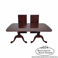 Wellington Hall Mahogany Double Pedestal Duncan Phyfe Dining Table