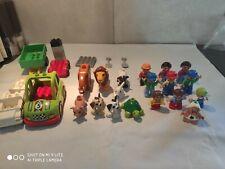Lot de Lego Duplo nombreux personnages+ animaux+ voitures