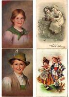 CHILDREN INFANTS Mostly ARTIST SIGNED 100 Vintage Postcards (PART 9.)