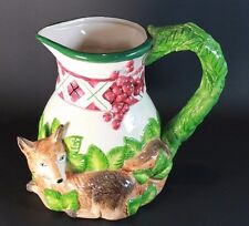 Noritake, Royal Hunt Collection - RED FOX - Ceramic Pitcher