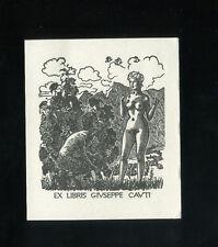 EXLIBRIS, 496a, Mark F. Severin - Akt mit Pan