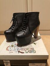 Jeffrey Campbell Lita Platform Heel Boots Size 37 UK 4