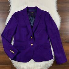 J. Crew Women's Size 6 Purple Schoolboy Blazer Jacket Lined