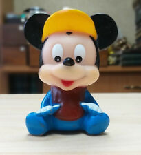 Old Vintage Soviet USSR Rubber Bath Toy Doll Cartoon FIGURINE Mickey Mouse