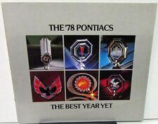 1978 Pontiac Dealer Sales Brochure Full Line Grand Prix Firebird LeMans Sunbird