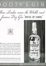 1934 BIG Original Vintage Booth's Dry Gin Bottle Photo Art Print Ad