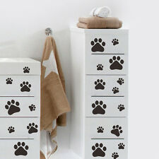 Popular 22 Walking Paw Prints Home Wall Decal Art Dog/Cat Food Dish Room Sticker