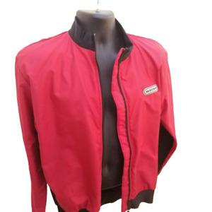 SUGOI Mens Large Unisex Red Jacket Nylon Lined Cycling Bike Jersey
