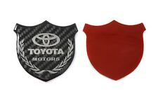 3D Toyota Carbon Fiber Front Body Trunk Rear Side Badge Emblem Sticker Silver