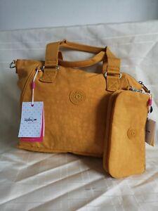 New Kipling Mustard Bag +Purse medium sized
