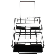 4 Airpot Coffee Display Commerical Black Wire Pot Rack Two Tier w/ Drip Trays