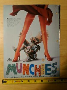 Video Advertisement Munchies VHS Rental Promo 1987 Horror