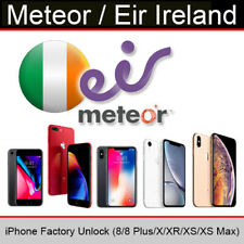 Meteor / Eir Ireland iPhone Factory Unlocking Service (8/8Plus/X/XR/XS Max)
